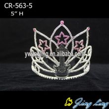 Wholesale and custom music theme star pageant crowns