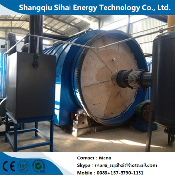 Refining Fuel Oil by Heating Tires Cracking Machine