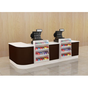 Modern Steel Supermarket Cash Desk