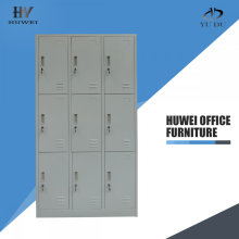 Nine door steel parcel locker almirah