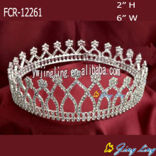 Full Round Rhinestone Queen Crown