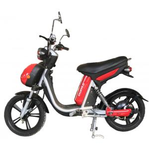 Bright red electric bicycle 18 inch tyre