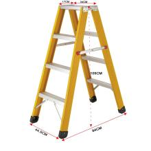 10 steps fiberglass ladder