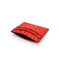 Coustmized Ostrich Leather Business Card Holder for Men