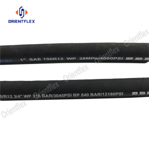 Steel wire reinforced high pressure hose