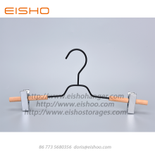 EISHO New Black Wooden Metal Pants Hanger