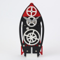 Rocket-shape Gear Desk Clock