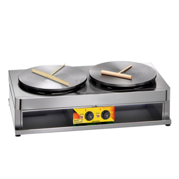 Two plate electric crepe maker double electric machine