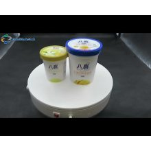 Good shape 14oz ice cream containers with cover