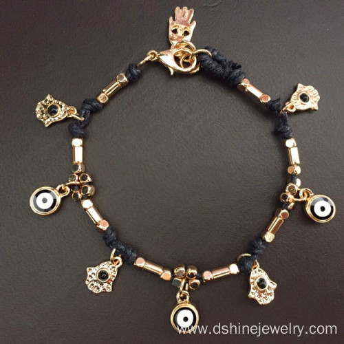 Handmade Lucky Turkey Evil Eye Wholesale Bangle Bracelet