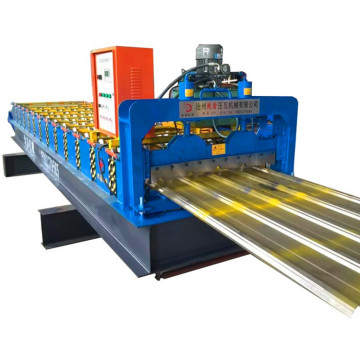 Trapezoidal roof profile sheet roll forming machine
