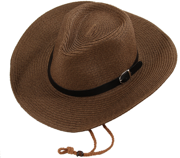 Leather Brand Straw Hat Khaki