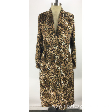 new fashion leopard printed long length ladies dress