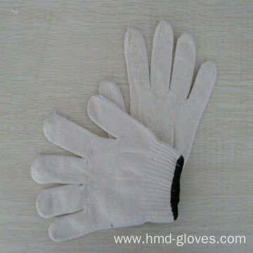 string knitted work glove white