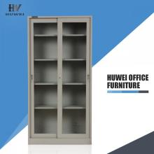 Metal sliding door office storage cupboard