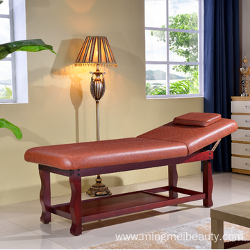Simple style durable wooden massage facial bed