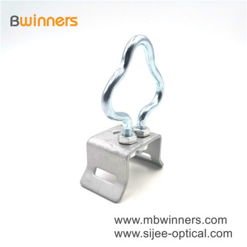 Ftth Accessories Galvanized Steel Pole Bracket