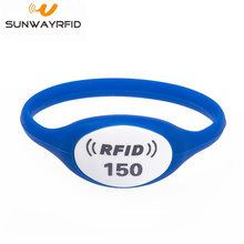 125khz Waterproof RFID Silicone Bracelet for Access Control