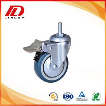 4 inch Thread stem casters with lock