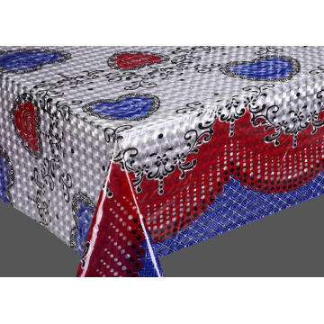 3D Embossed Printed Plastic Tablecloth