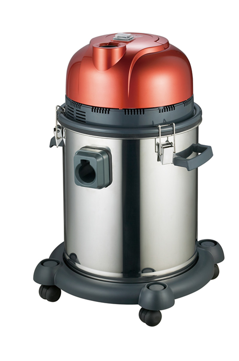 wet and dry red vacuum cleaner