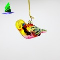 glass bird Christmas tree hanging ornaments