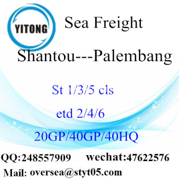 Shantou Port Sea Freight Shipping To Palembang