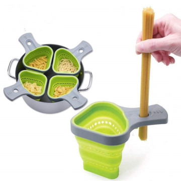 Kitchen Triangle Shape Silicone Collapsible Pasta Strainer