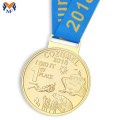 Custom quality gold metal award medal