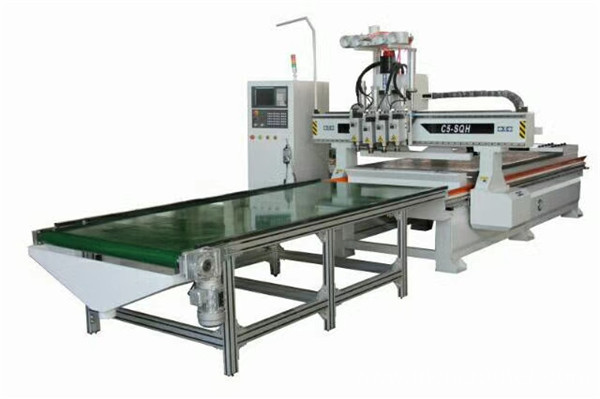 Auto Feeding Woodworking panel processing CNC Router Machine