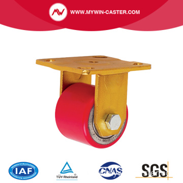 Iron Core PU Tread Low Center Heavy Duty Caster