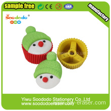 3D Cute Gift knot Cake Shaped Eraser