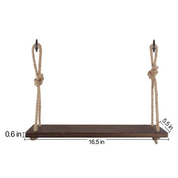 Torched Swing Hanging wall mount shelf