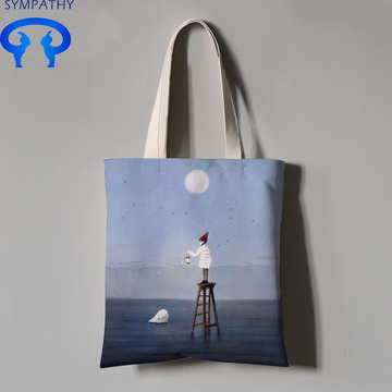 Custom student art shopping bag  canvas bag