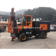 Wheeled Pile Driver for Guardrail Installation