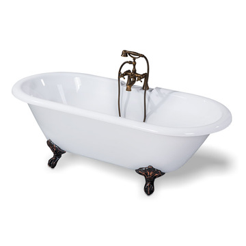 Antique Acrylic Clawfoot Bathtub