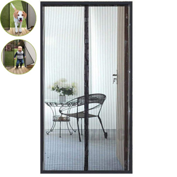 magnetic mesh door screen curtain