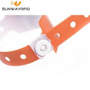 Flexible PVC Disposable NFC RFID Wristband