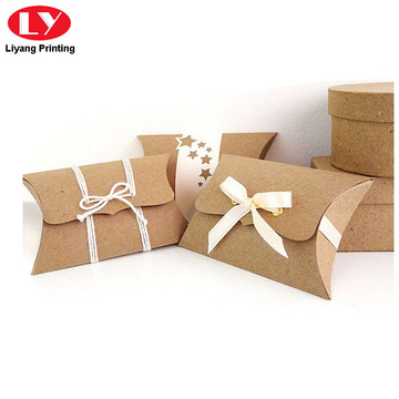 Pillow Style Soap Packaging Box with Ribbon Bow