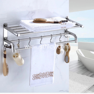 Stainless Steel 304 Mirror Polish Towel Shelf
