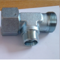 Hydraulic Run Tee Fittings With Swivel Nut Adapter