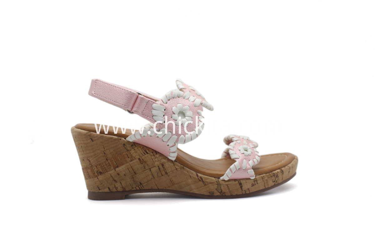 Hand Knitting Middle wedge sandals