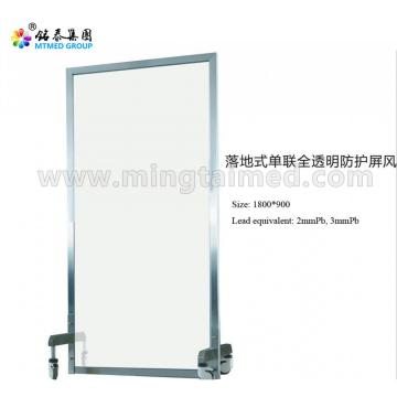 Floor-type single all-transparent protective screen