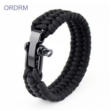 Best quality and factory for Outdoor Paracord Bracelet Adjustable Black Military Paracord Bracelet supply to Italy Suppliers