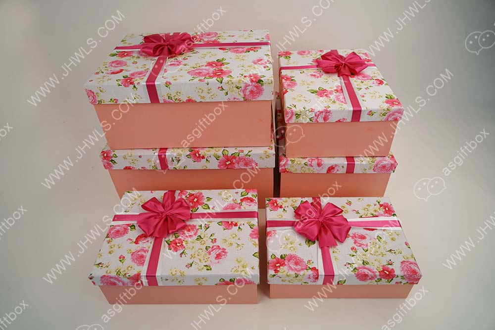 High-end Custom Pink Bow Shoebox