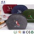 Customized size felt clutch bag organizer