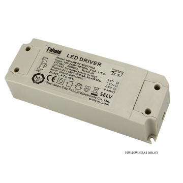 1-10V Regulación 600mA LED Downlight del conductor