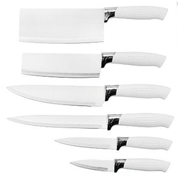6 pcs knife set with pp handle