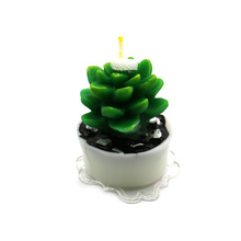 Home decoration cactus shape plant candles