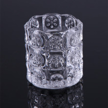 Glass Cylinder Patterned Votive Cup